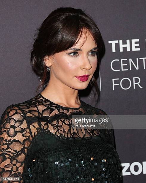 Actress Adriana Louvier attends The Paley Center for Media's Hollywood tribute to Hispanic achievements in television at the Beverly Wilshire Four...