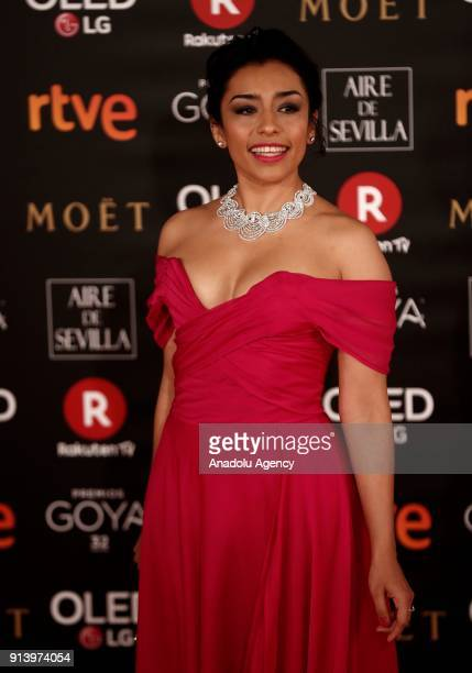 Actress Adriana Paz attends the 32th edition of the Goya Awards ceremony in Madrid Spain on February 04 2018