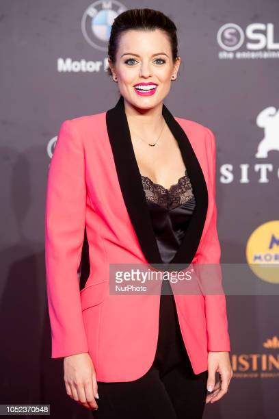 Actress Adriana Torrebejano at the premiere film of La sombra de la ley during the 51 edition of Festival Internacional de Cinema Fantastic de...
