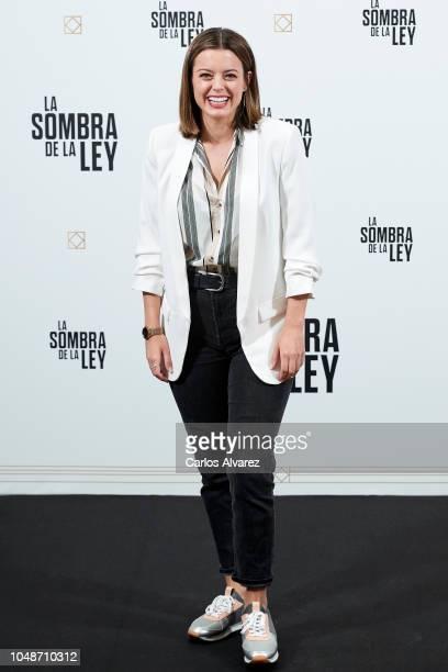 Actress Adriana Torrebejano attends 'La Sombra De La Ley' photocall at the Gran Melia Palacio de los Duques Hotel on October 10 2018 in Madrid Spain
