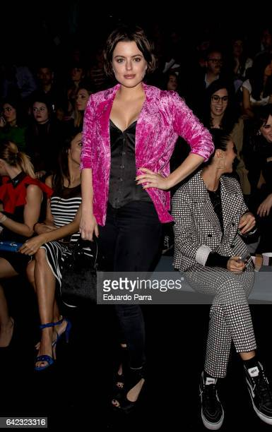 Actress Adriana Torrebejano attends the front row of Maya hansen show during Mercedes Benz Fashion Week Madrid Autumn / Winter 2017 at Ifema on...