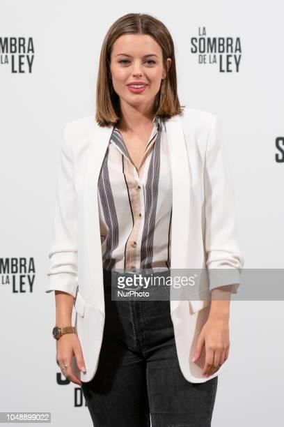 Actress Adriana Torrebejano attends the 'La sombra de la ley' photocall at Palacio de los duques hotel on October 10 2018 in Madrid Spain
