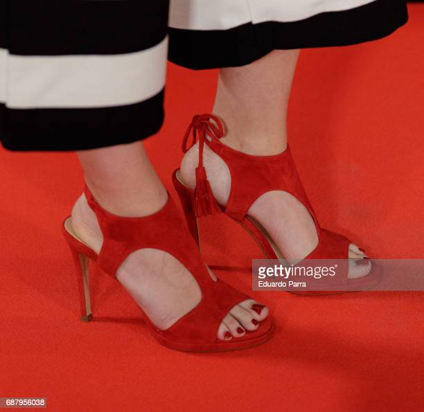Actress Adriana Torrebejano shoes detail attends the 'El Jardin del Miguel Angel' party photocall at Miguel Angel hotel on May 24 2017 in Madrid Spain