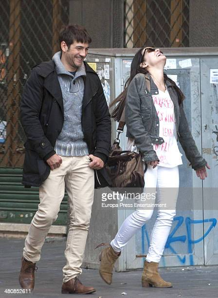 Actress Adriana Ugarte and actor Felix Gomez are seen going to have lunch on February 22 2014 in Tenerife Spain