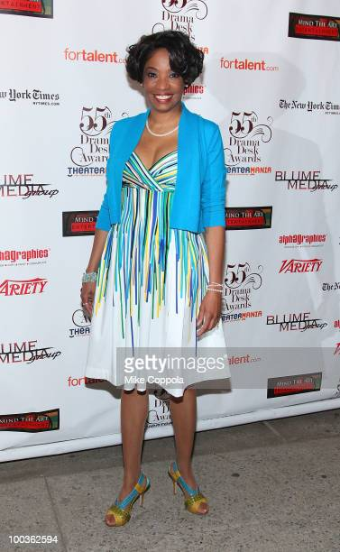 Actress Adriane Lenox arrives at the 55th Annual Drama Desk Awards at the FH LaGuardia Concert Hall at Lincoln Center on May 23 2010 in New York City