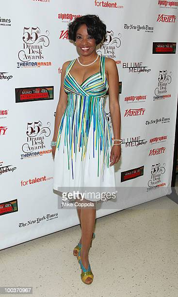 Actress Adriane Lenox arrives at the press room at the 55th Annual Drama Desk Awards at the FH LaGuardia Concert Hall at Lincoln Center on May 23...