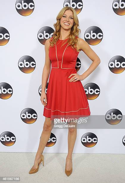 Actress Adrianne Palicki arrives at Disney ABC Television Group's TCA Winter Press Tour on January 14 2015 in Pasadena California