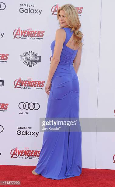 """Actress Adrianne Palicki arrives at the Los Angeles Premiere Marvel's """"Avengers Age Of Ultron"""" at Dolby Theatre on April 13, 2015 in Hollywood,..."""