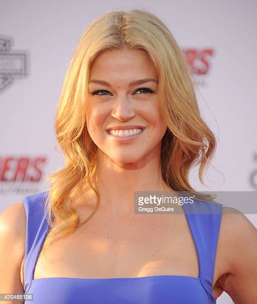 Actress Adrianne Palicki arrives at the Los Angeles premiere of Marvel's Avengers Age Of Ultron at Dolby Theatre on April 13 2015 in Hollywood...