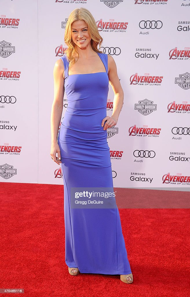 Actress Adrianne Palicki arrives at the Los Angeles premiere of Marvel's 'Avengers: Age Of Ultron' at Dolby Theatre on April 13, 2015 in Hollywood, California.