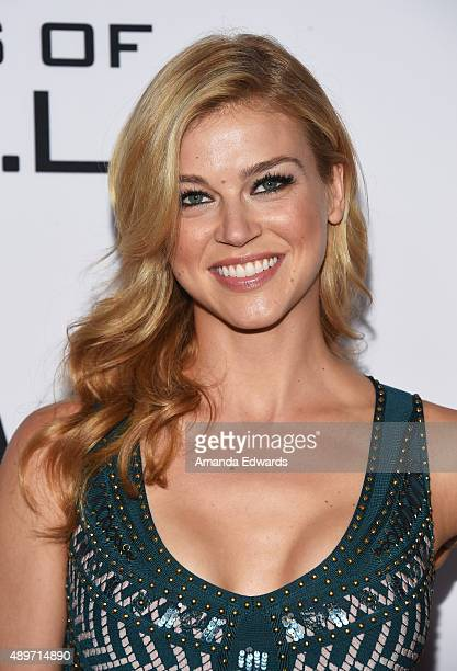 Actress Adrianne Palicki arrives at the premiere of Marvel's Agents Of SHIELD at Pacific Theatres at The Grove on September 23 2015 in Los Angeles...