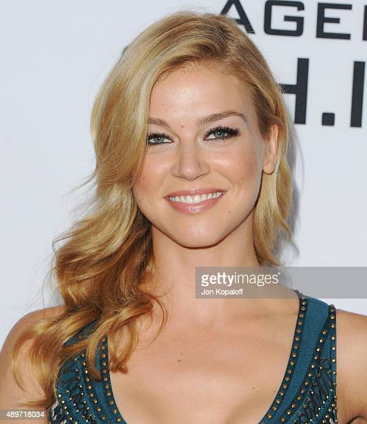 Actress Adrianne Palicki arrives at the Premiere Of Marvel's Agents Of SHIELD at Pacific Theatre at The Grove on September 23 2015 in Los Angeles...