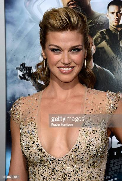 Actress Adrianne Palicki arrives at the Premiere of Paramount Pictures' GI Joe Retaliation at TCL Chinese Theatre on March 28 2013 in Hollywood...