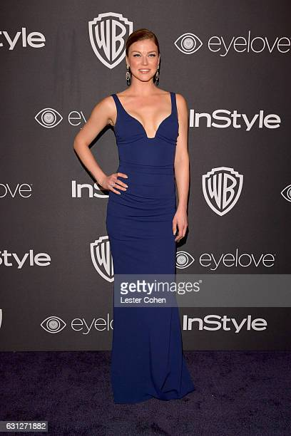 Actress Adrianne Palicki attends the 18th Annual PostGolden Globes Party hosted by Warner Bros Pictures and InStyle at The Beverly Hilton Hotel on...