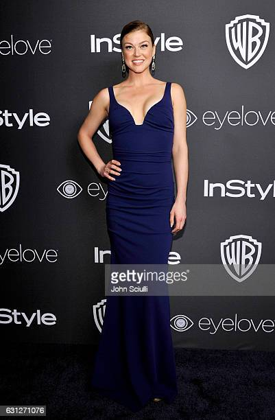 Actress Adrianne Palicki attends The 2017 InStyle and Warner Bros 73rd Annual Golden Globe Awards PostParty at The Beverly Hilton Hotel on January 8...