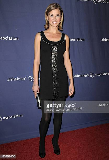 Actress Adrianne Palicki attends the Alzheimer's Association's 17th annual A Night at Sardi's fundraiser at the Beverly Hilton Hotel on March 4 2009...