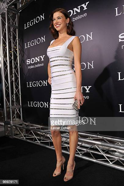 Actress Adrianne Palicki attends the 'Legion' Los Angeles premiere at ArcLight Cinemas Cinerama Dome on January 21 2010 in Hollywood California