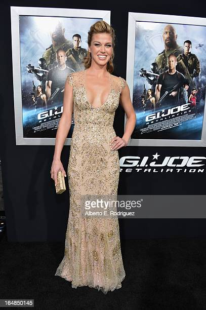 Actress Adrianne Palicki attends the premiere of Paramount Pictures' GI Joe Retaliation at TCL Chinese Theatre on March 28 2013 in Hollywood...