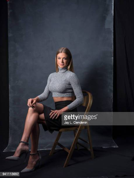 Actress Adrianne Palicki from of 'The Orville' is photographed for Los Angeles Times on March 17 2018 at the PaleyFest at the Dolby Theatre in...