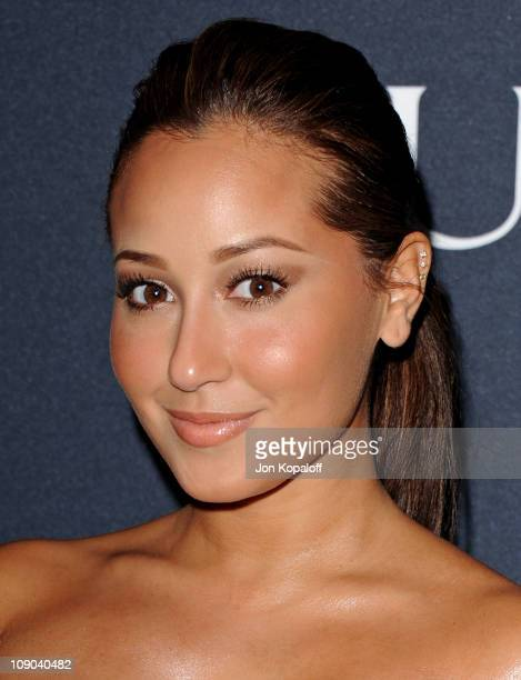 Actress Adrienne Bailon arrives at the Gucci And RocNation Host PreGrammy Brunch At Soho House at Soho House on February 12 2011 in West Hollywood...