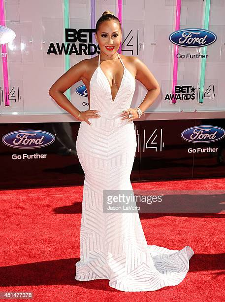 Actress Adrienne Bailon attends the 2014 BET Awards at Nokia Plaza LA LIVE on June 29 2014 in Los Angeles California