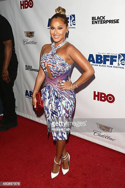 Actress Adrienne Bailon attends the 'Think Like A Man Too' premiere during the 2014 American Black Film Festival at SVA Theater on June 19 2014 in...