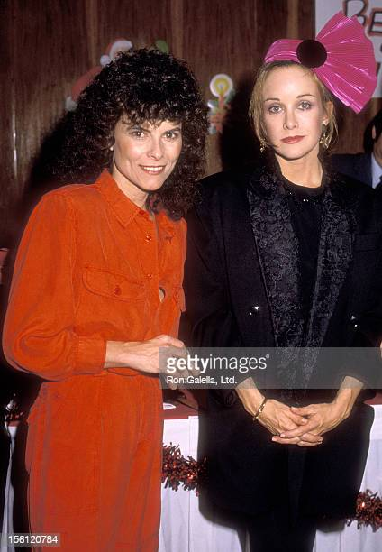 Actress Adrienne Barbeau and Actress Season Hubley on December 18 1985 sighting at the Sunset Hyatt Hotel in West Hollywood California