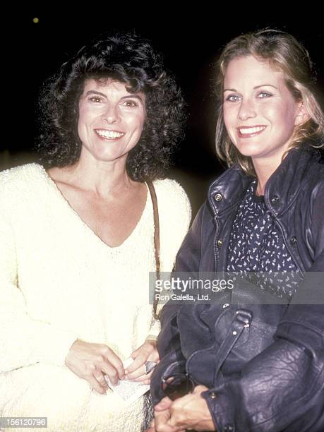 Actress Adrienne Barbeau and Actress Season Hubley on September 27 1985 at Spago in West Hollywood California