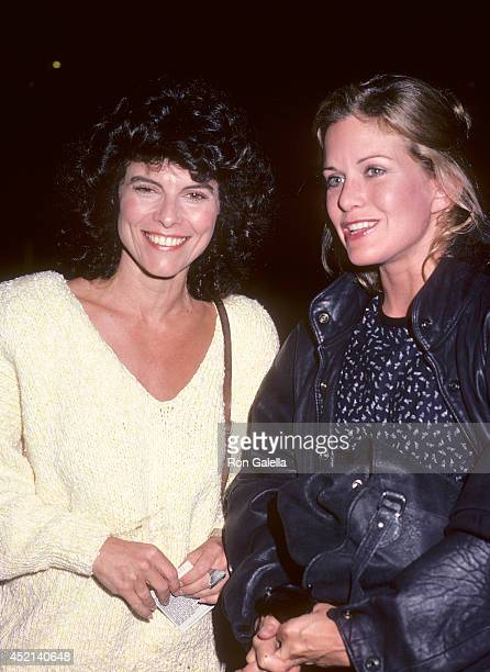Actress Adrienne Barbeau and actress Season Hubley on September 27 1985 dine at Spago in West Hollywood California