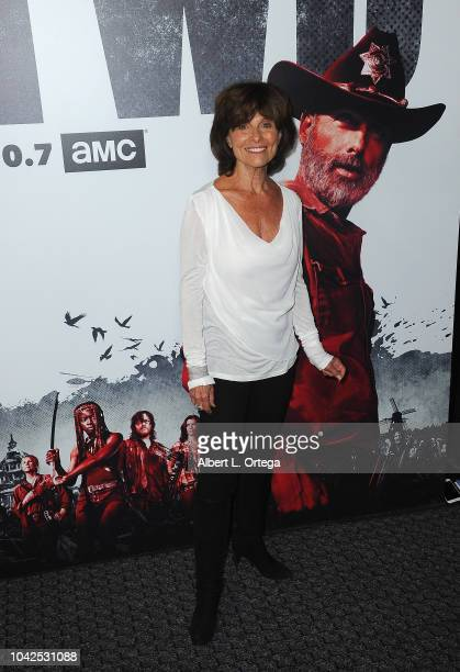 Actress Adrienne Barbeau arrives for the Premiere Of AMC's The Walking Dead Season 9 held at DGA Theater on September 27 2018 in Los Angeles...