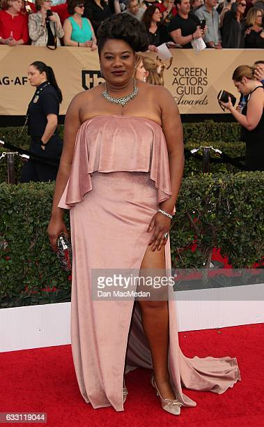 Actress Adrienne C Moore arrives at the 23rd Annual Screen Actors Guild Awards at The Shrine Expo Hall on January 29 2017 in Los Angeles California