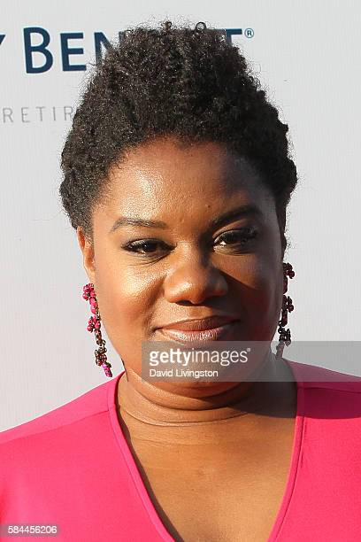 Actress Adrienne C Moore arrives at the Los Angeles Dodgers Foundation Blue Diamond Gala at the Dodger Stadium on July 28 2016 in Los Angeles...