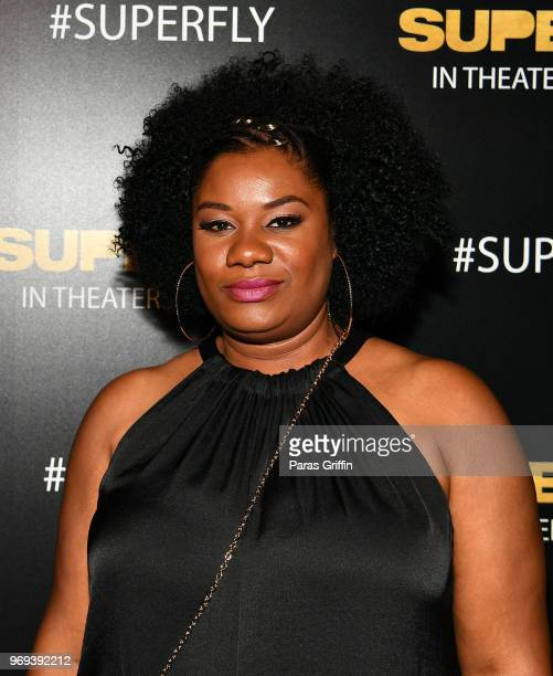 Actress Adrienne C Moore attends Columbia Pictures Superfly Atlanta special screening on June 7 2018 at SCADShow in Atlanta Georgia