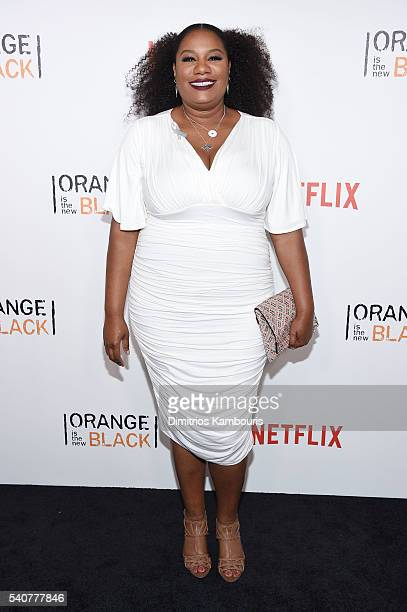 Actress Adrienne C Moore attends 'Orange Is The New Black' premiere at SVA Theater on June 16 2016 in New York City