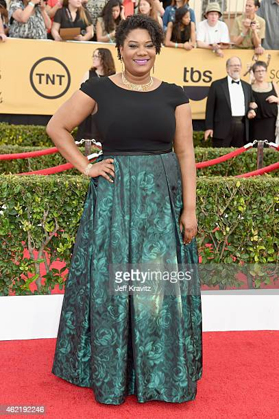 Actress Adrienne C Moore attends the 21st Annual Screen Actors Guild Awards at The Shrine Auditorium on January 25 2015 in Los Angeles California