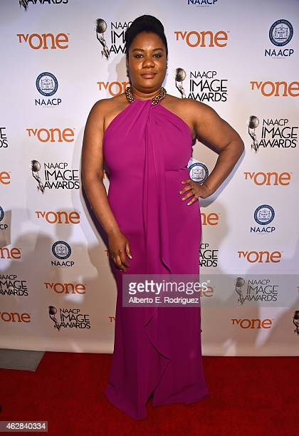 Actress Adrienne C Moore attends the 46th NAACP Image Awards NonTelevised Awards Ceremony at Pasadena Convention Center on February 5 2015 in...