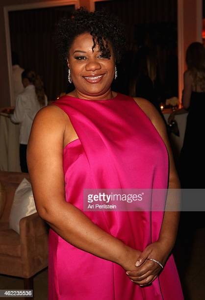 Actress Adrienne C Moore attends The Weinstein Company Netflix's 2015 SAG After Party In Partnership With Laura Mercier at Sunset Tower on January 25...