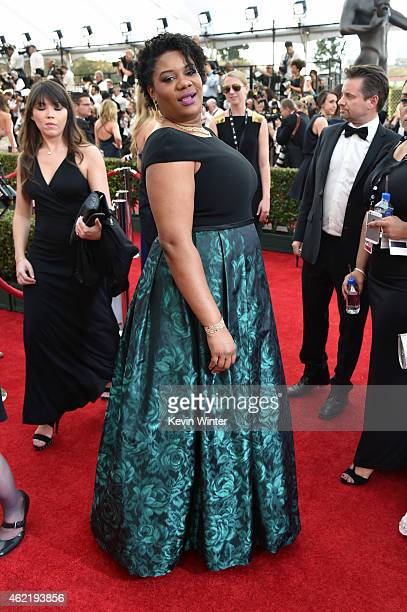 Actress Adrienne C Moore attends TNT's 21st Annual Screen Actors Guild Awards at The Shrine Auditorium on January 25 2015 in Los Angeles California...