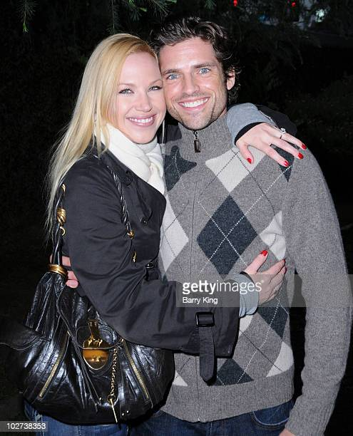 Actress Adrienne Frantz and fiance actor Scott Bailey attend Venice Magazine's 10th Annual Hollywood Bowl PreConcert Picnic at the Hollywood Bowl on...
