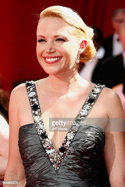 Actress Adrienne Frantz arrives at the 61st Primetime Emmy Awards held at the Nokia Theatre on September 20 2009 in Los Angeles California