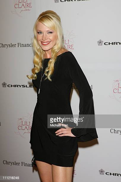 Actress Adrienne Frantz arrives at The Lili Claire Foundation 10th Annual Dinner and Auction at the Hyatt Regency Plaza Hotel on October 13 2007 in...