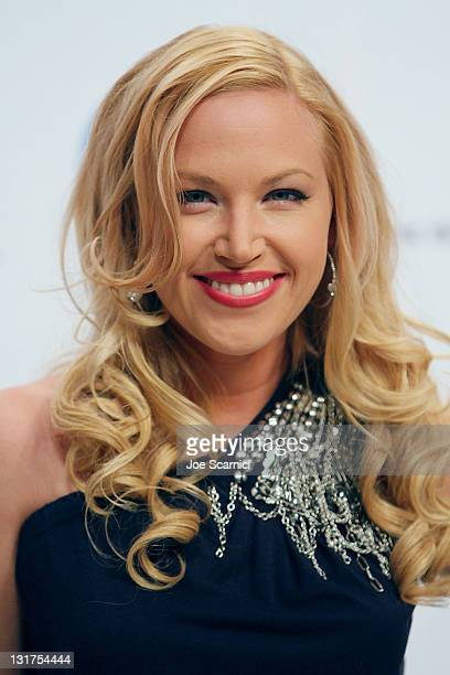 Actress Adrienne Frantz of the television show 'The Bold and the Beautiful' attends the Guinness World Record's Official Validation For 'The Bold The...