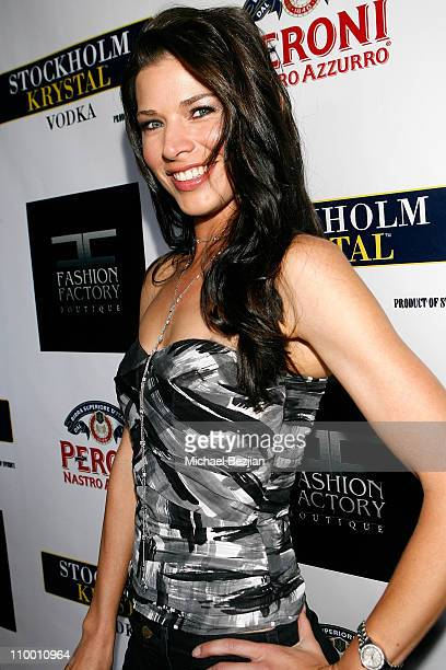 Actress Adrienne Janic arrives at the Fashion Factory Boutique Grand Opening Celebration on May 6 2008 in Los Angeles California