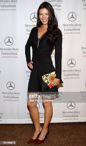 Actress Adrienne Janic arrives at the Spring 2008 Mercedes Benz Los Angeles Fashion Week held at Smashbox Studios on October 15th 2007 in Culver City...