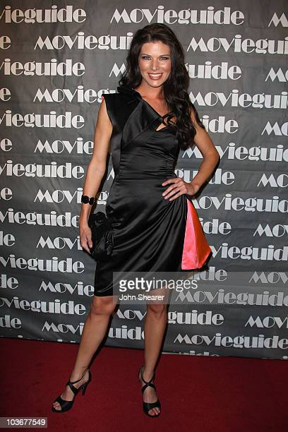 Actress Adrienne Janic arrives to the 16th Annual Movieguide Faith and Values Awards at the Beverly Hilton on February 12 2008 in Beverly Hills...