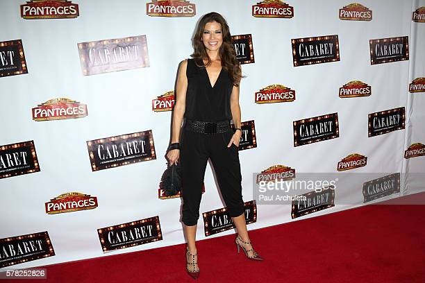 Actress Adrienne Janic attends the opening night of Cabaret at The Hollywood Pantages at the Pantages Theatre on July 20 2016 in Hollywood California