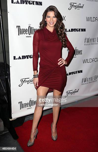 Actress Adrienne Janic attends the Wayke Up Fundraiser presented by Wildfox and Ladygunn Magazine hosted by Nikki Reed at Sofitel Hotel on December...