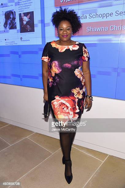 Actress Adrienne Moore attends the ASPCA Young Friends benefit at IAC Building on October 15 2015 in New York City