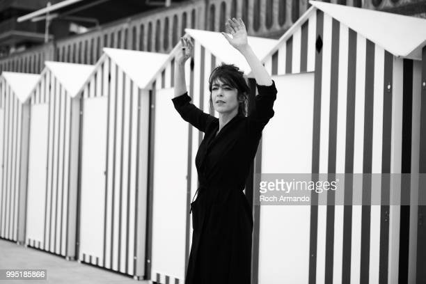 Actress Adrienne Pauly is photographed for Self Assignment on May 2018 in Cabourg France
