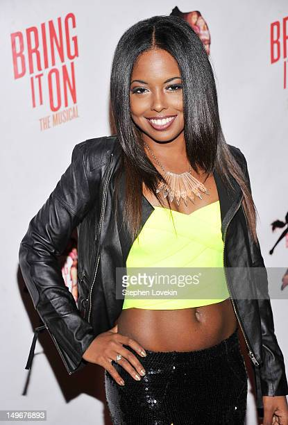 Actress Adrienne Warren attends Bring It On The Musical Broadway Opening Night After Party at 230 Fifth Avenue on August 1 2012 in New York City